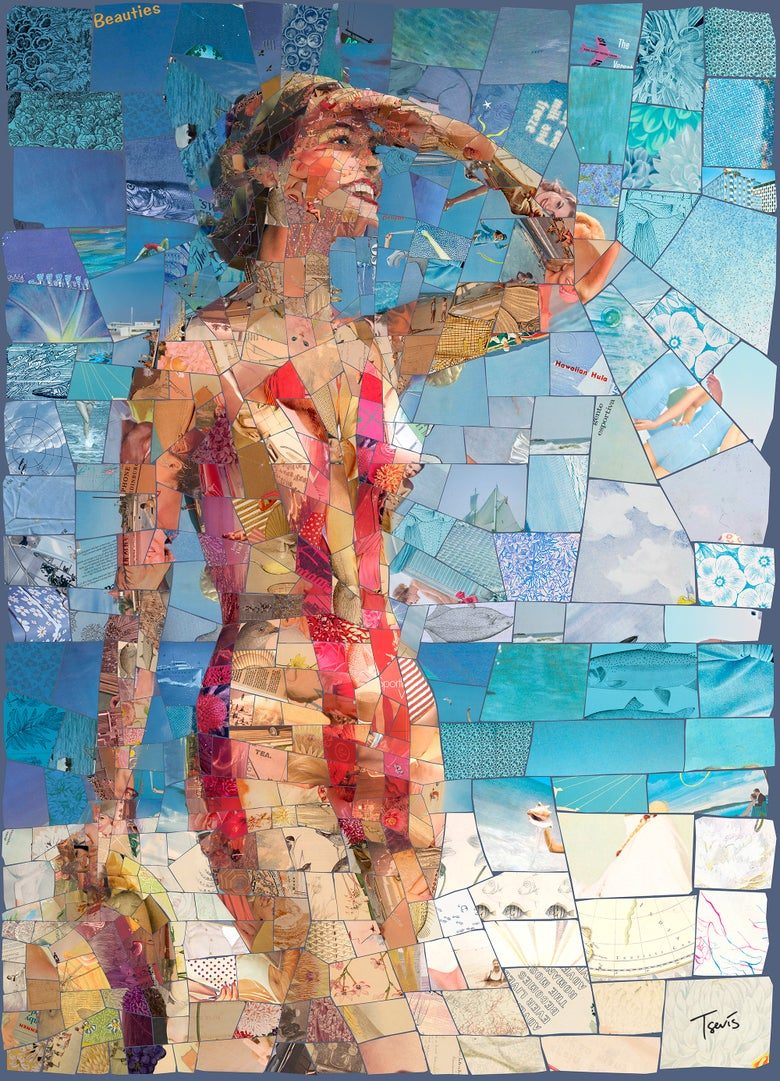 "Image of ENDLESS SUMMER ""Lovely day"" (Limited edition digital mosaic on canvas)"