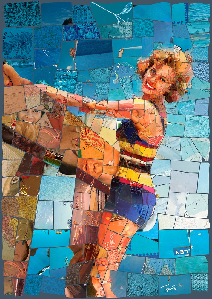 "Image of ENDLESS SUMMER ""Under the boardwalk"" (Limited edition digital mosaic on canvas)"