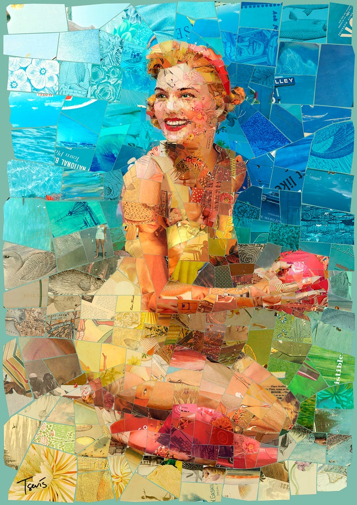 "Image of ENDLESS SUMMER ""Beat this summer"" (Limited edition digital mosaic on canvas)"