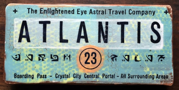 Image of Stoneware Ceramic Art Tile #2 - Atlantis