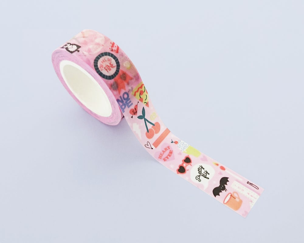 Image of Fun-loving illustrations washi tape