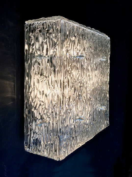 Image of Square Glass Light by Kalmar of Austria