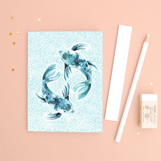 Image of The Fish Pisces Zodiac - Recycled Paper Notebook