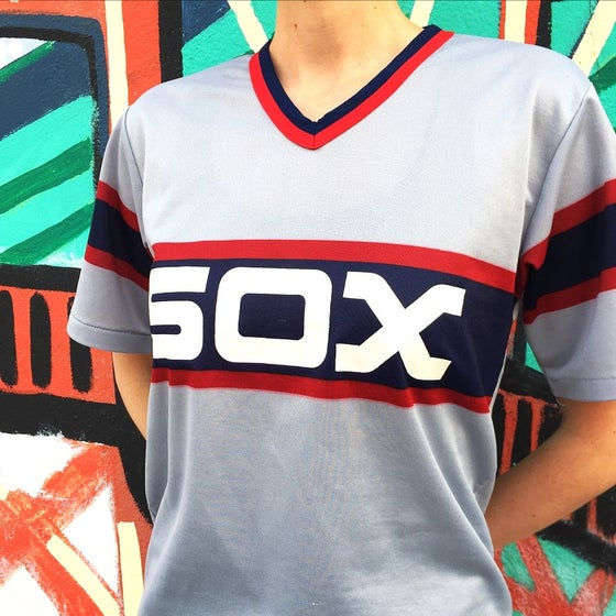Image of Vintage 1980's Chicago White Sox Jersey Sz.L (Youth)