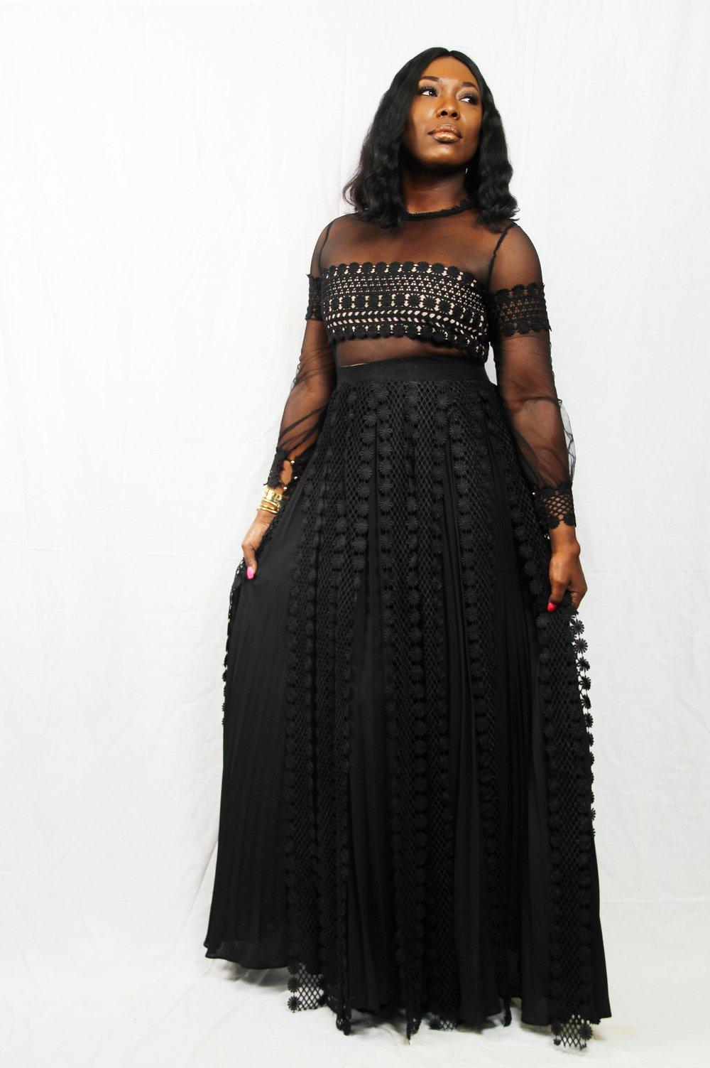 Image of Black Goddess Maxi Dress