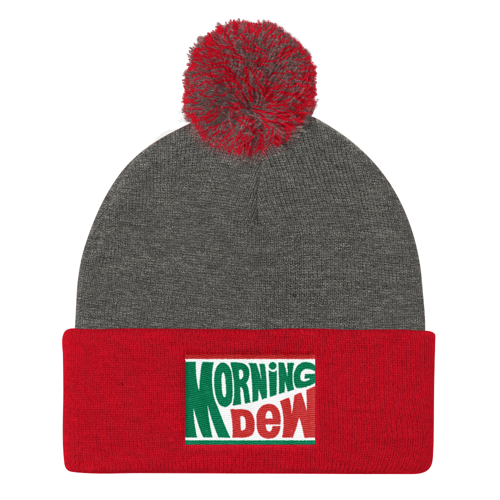 Image of Morning Dew EMBROIDERED POM POM KNIT CAP