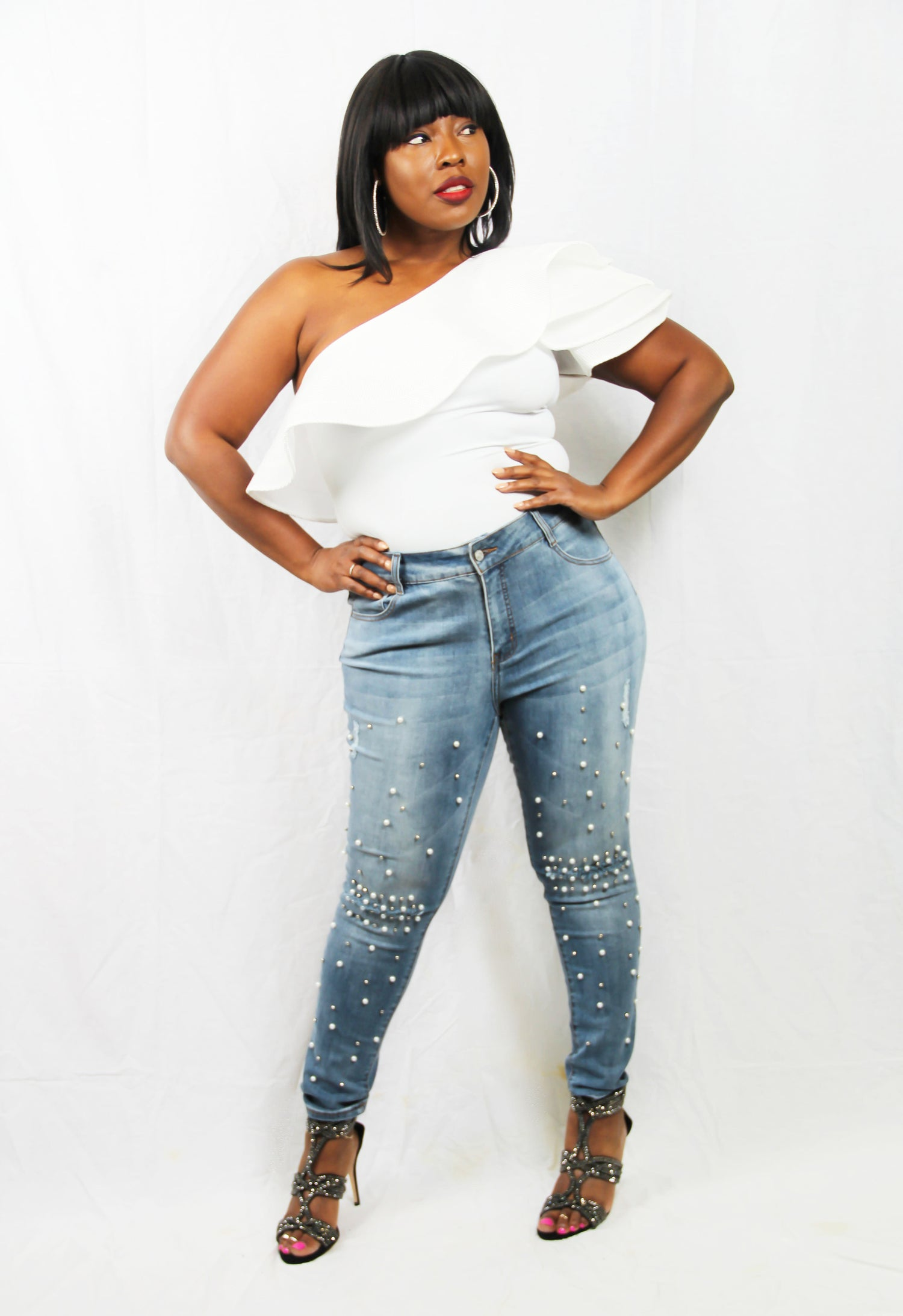 Image of Pearl and Denim Jeans