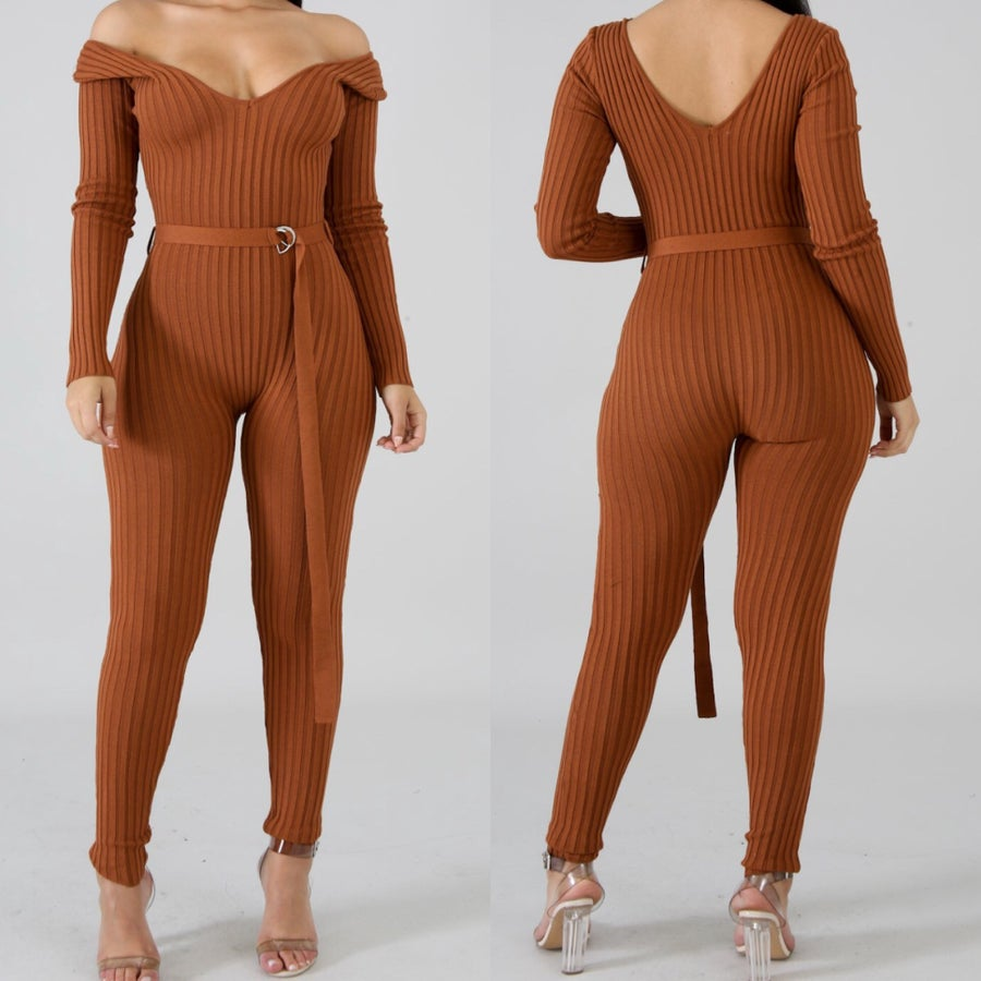 Image of Alysa knit jumpsuit