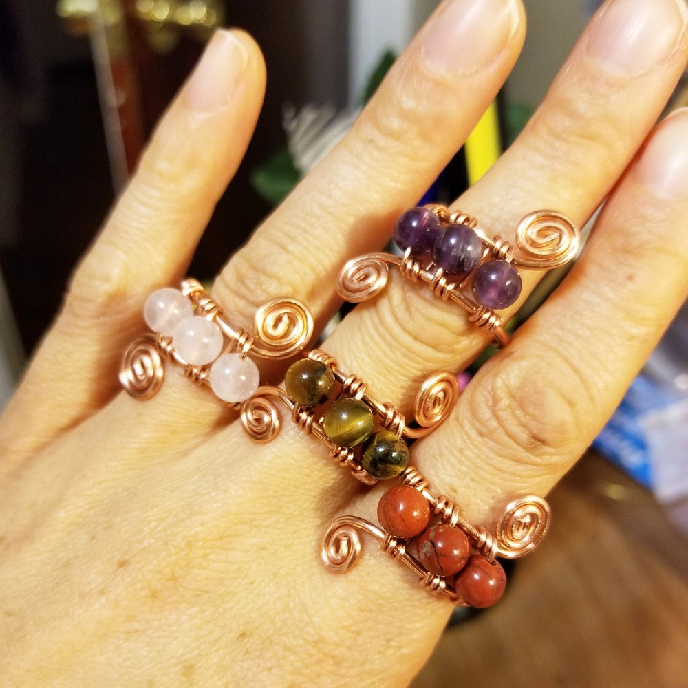 Image of Beaded rings adjustable