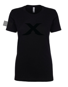 "Image of LIMITED EDITION: ""X"" Black Out Womens Tee"