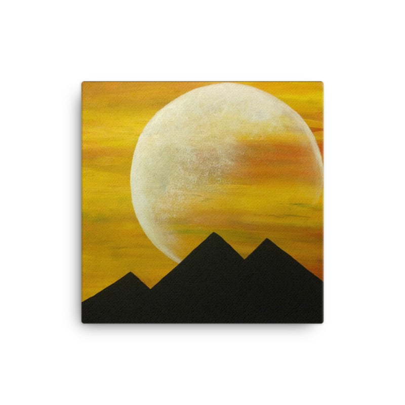 Image of Moon of Gyza - Canvas Print