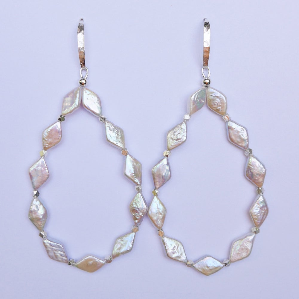Image of Nova Diamond Loop Earrings