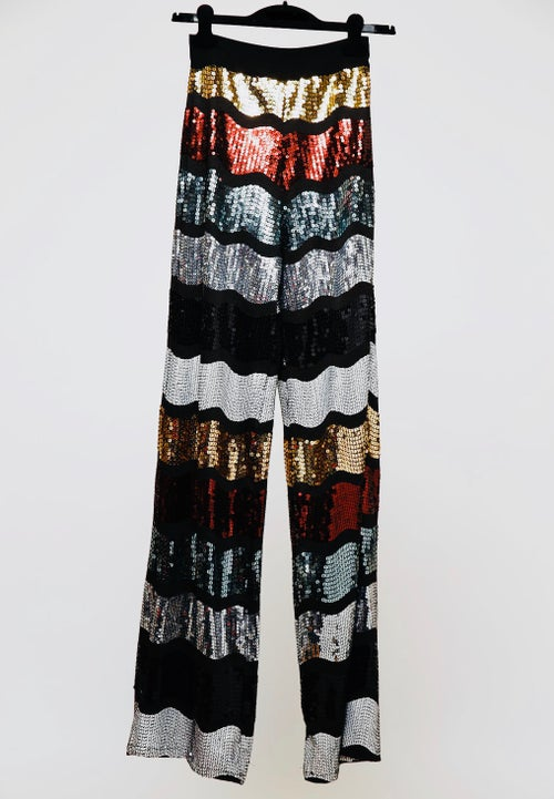 Image of Palazzo Highwaist Sequin Pant.