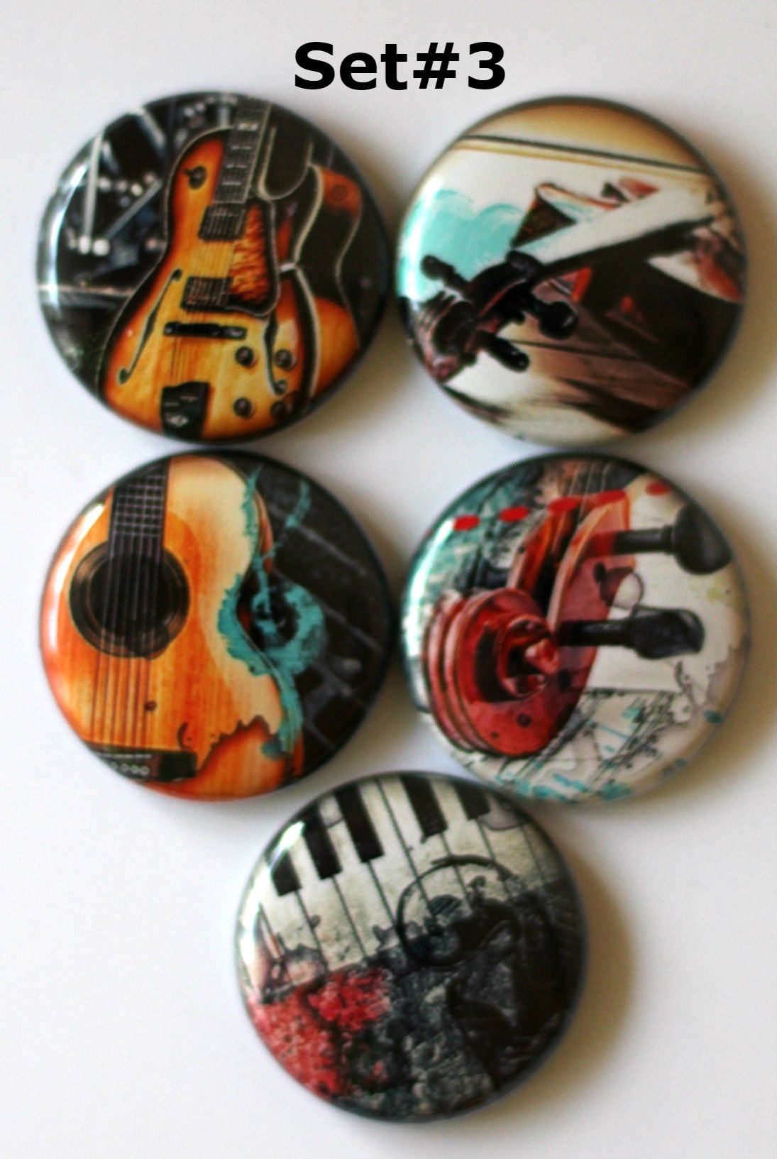 Image of Musical Instrument Flair Buttons