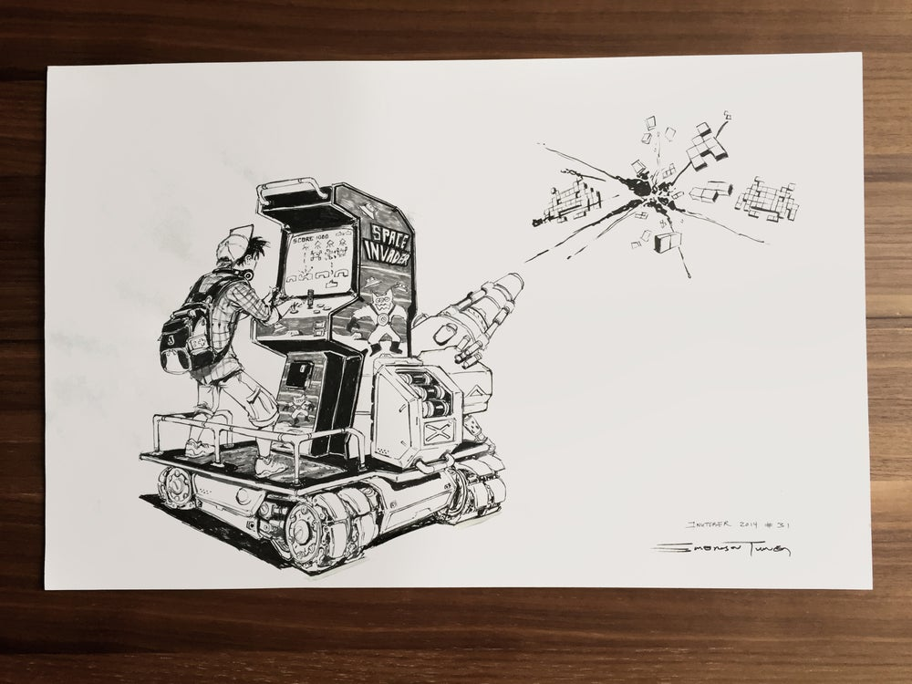 Image of Space Invaders - Original Art