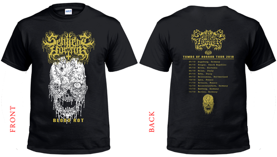 Image of Sentient Horror • Blood Rot Tourshirt 2018