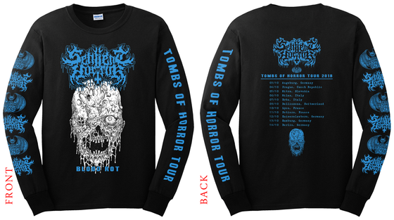 Image of Sentient Horror • Blood Rot Tour Longsleeve 2018