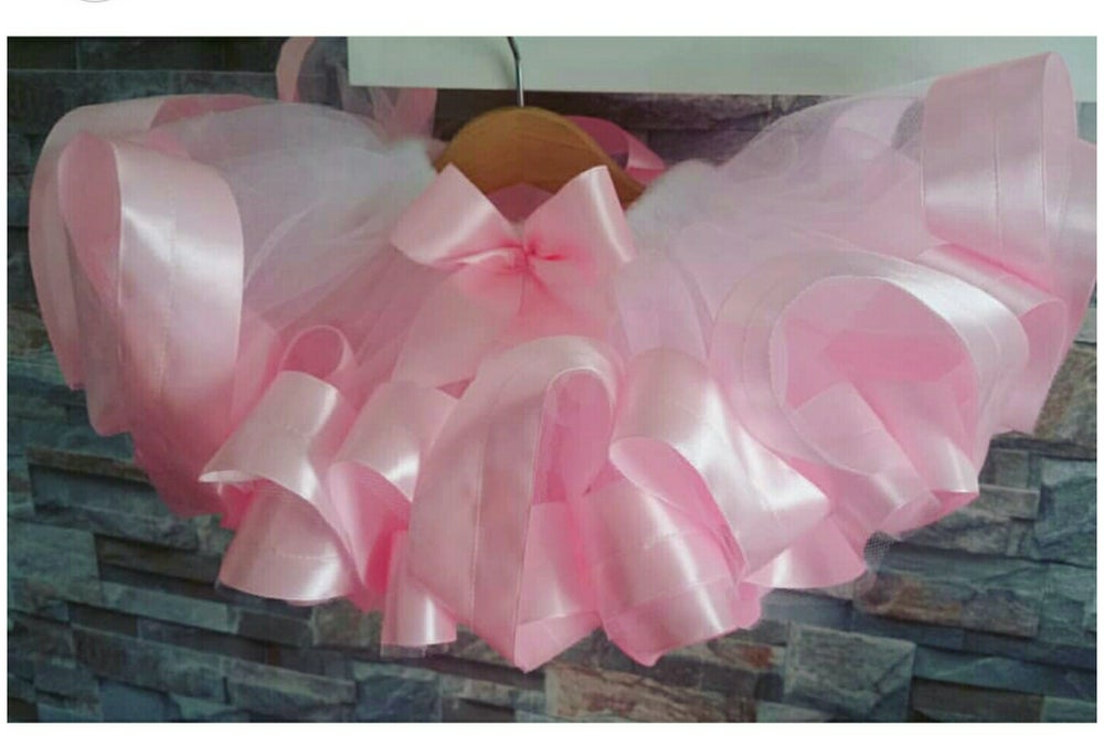 Image of White & Baby Pink with Bow