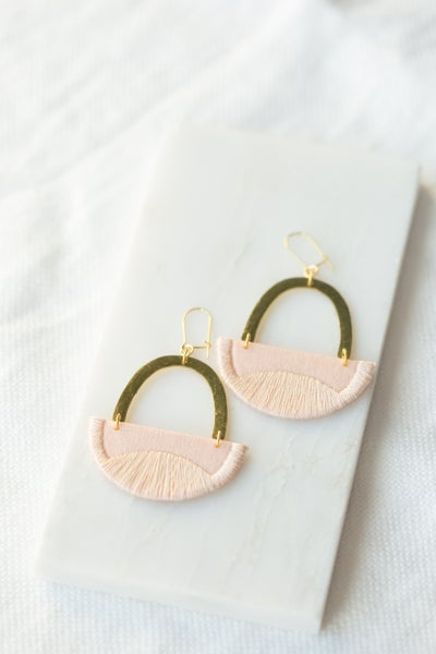 Image of LINNEA earrings in Blush