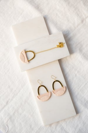 Image of LINNEA earrings in Blush