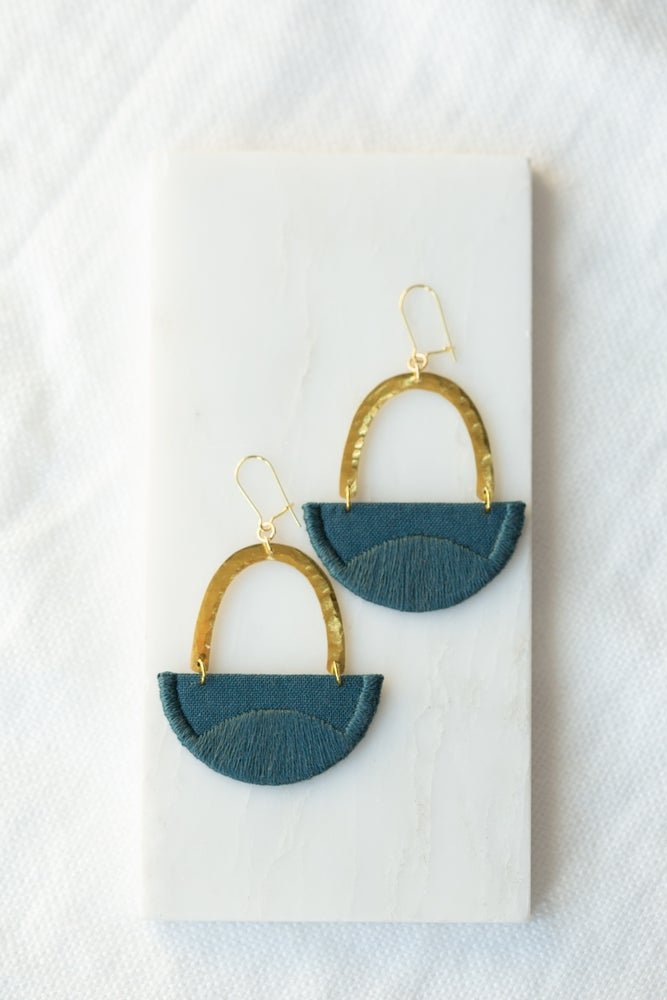 Image of LINNEA earrings in Indigo