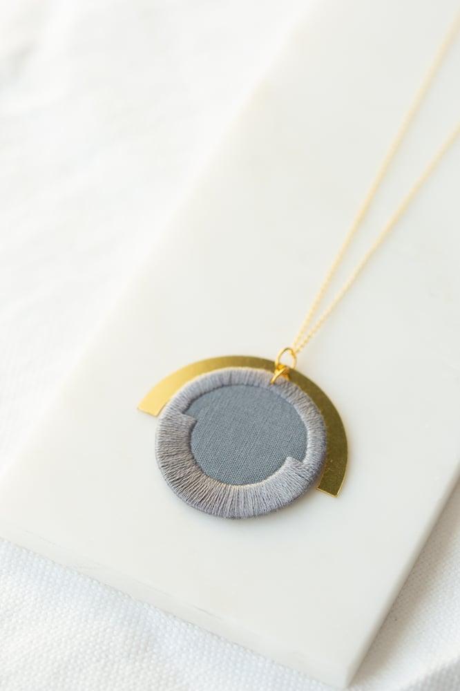 Image of LUNA circle pendant in Grey