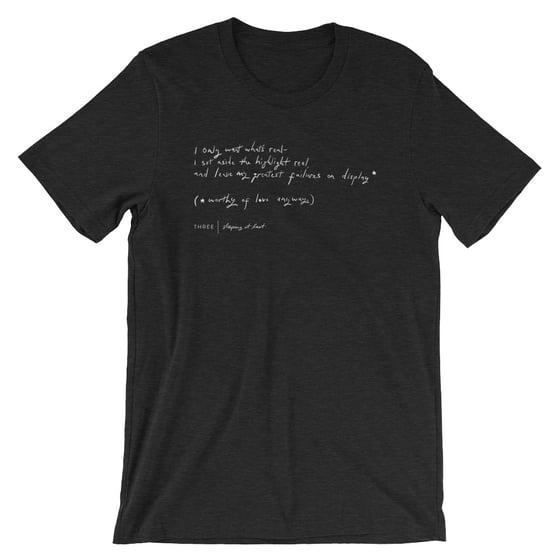 """Image of """"Three"""" Handwriting Shirt"""