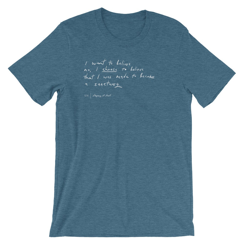 "Image of ""Six"" Handwriting Shirt"
