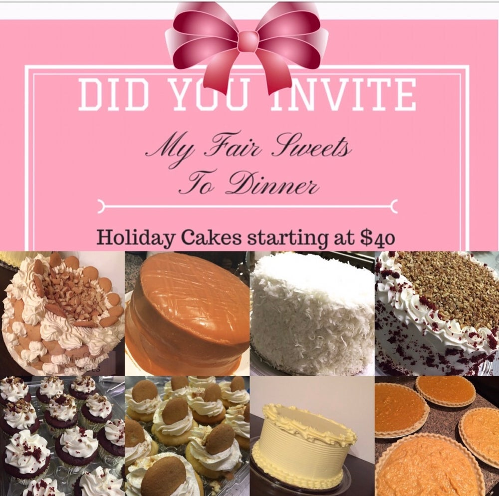 Image of Holiday Cakes, Cupcakes and Cheesecakes-PICK UP ONLY - ORDER BY DEC 19 for CHRISTMAS EVE PICKUP