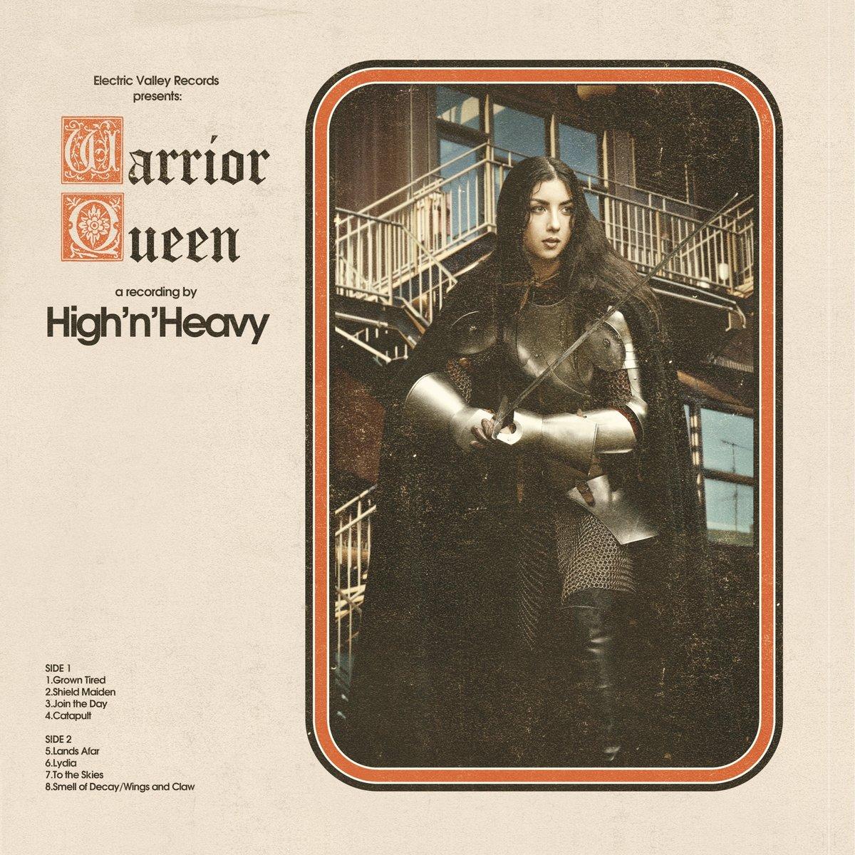 Image of HIGH N' HEAVY - WARRIOR QUEEN Ltd Clear Blue Vinyl