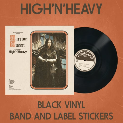 Image of HIGH N' HEAVY - WARRIOR QUEEN Black Vinyl