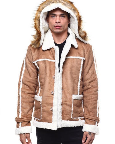 Image of Shearling Jacket W/ Fur Hoodie by Buyers Picks