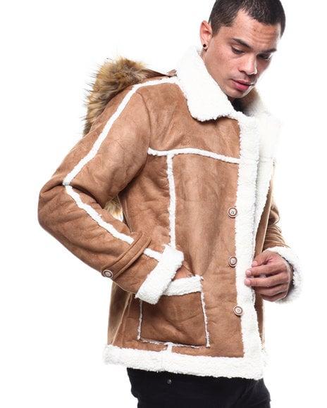 Image of Shearling Jacket W/ Fur Hoodie by Buyers Picks