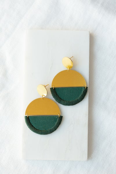 Image of LUNA round earring Forest