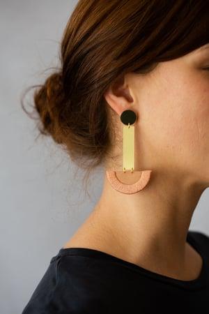 Image of LUNA earrings drop in Rose