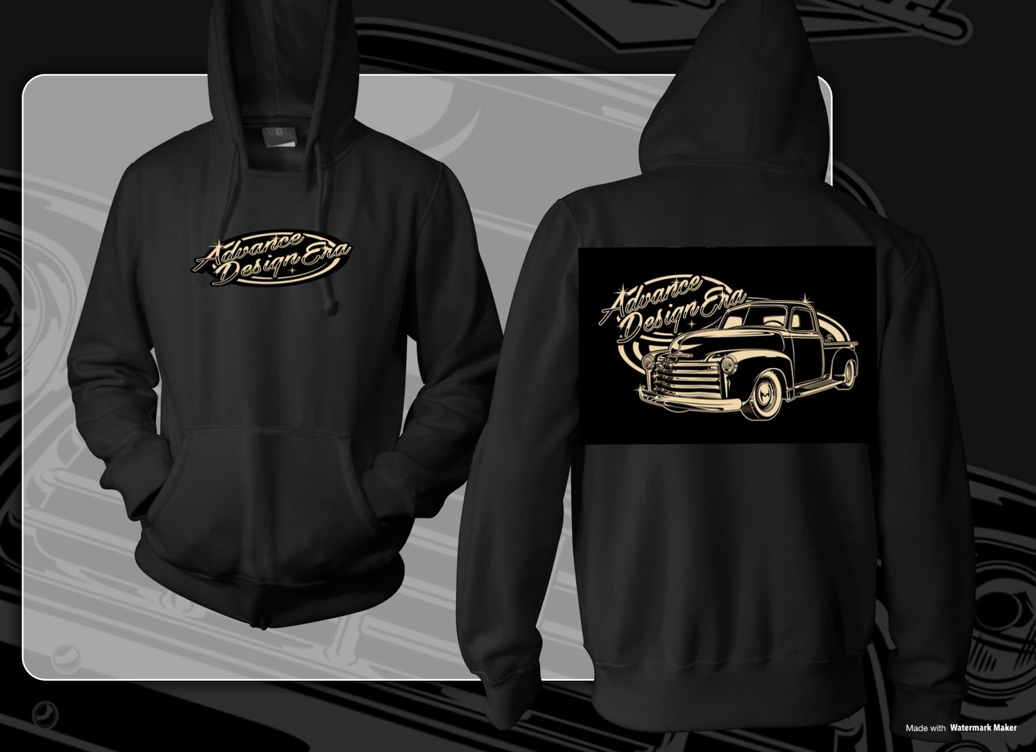 Image of Advance Design Era Old School Pullover Hoodie
