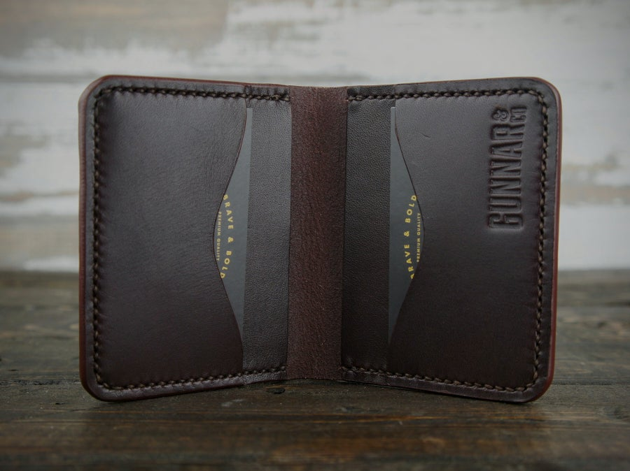 Image of dark brown 4 pocket wallet