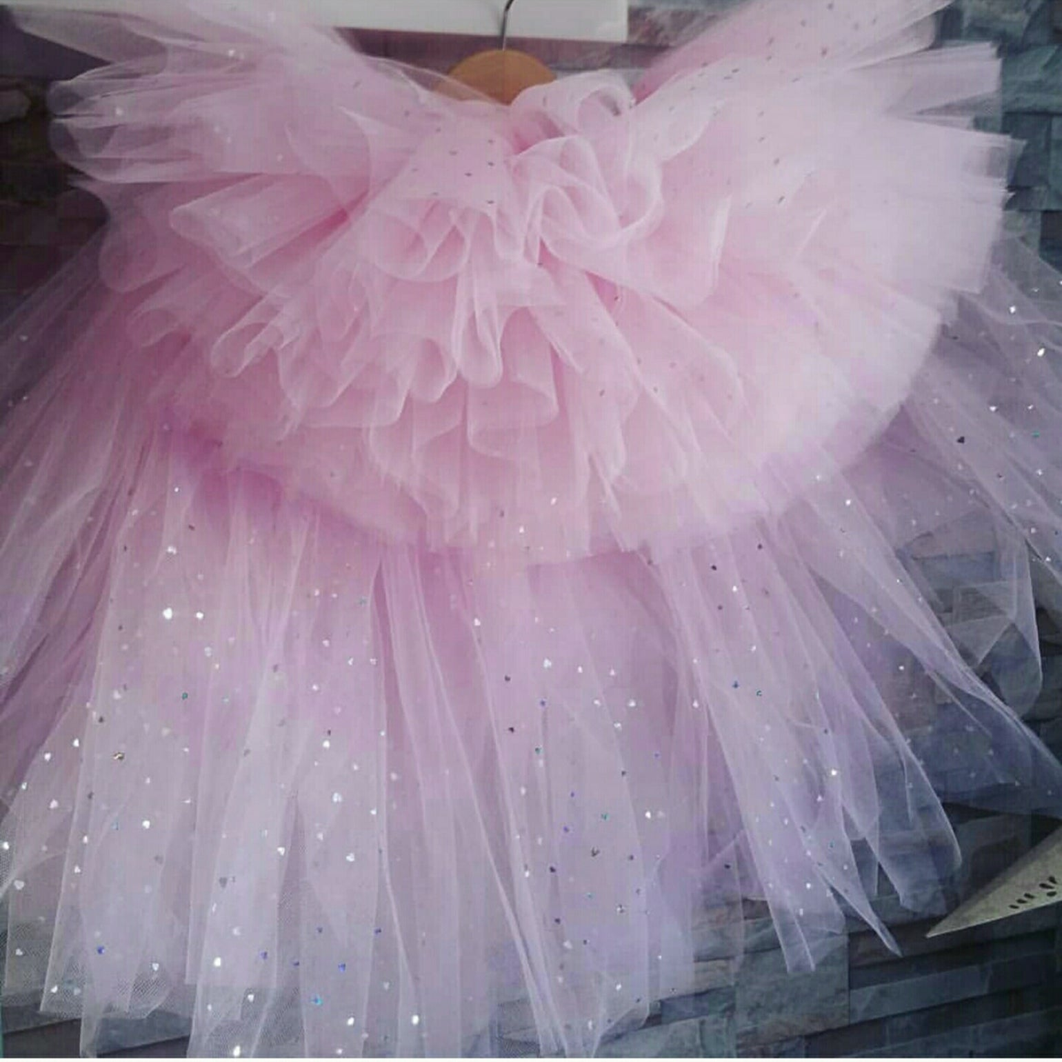 Image of Baby Pink Sparkle High/Low