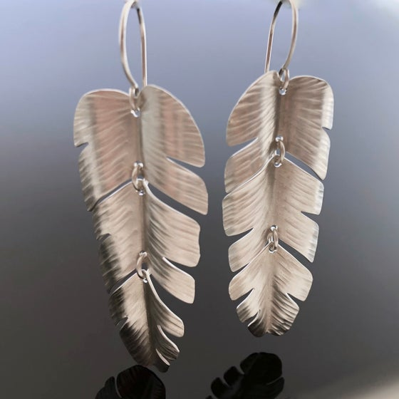 Image of Palm Leaf Earrings