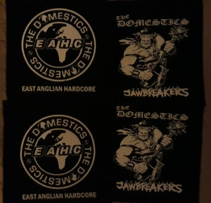 Image of THE DOMESTICS 'E.A.H.C.' or 'E.A. JAWBREAKER' CLOTH PATCH (FREE P&P WITH ANY OTHER ORDER)