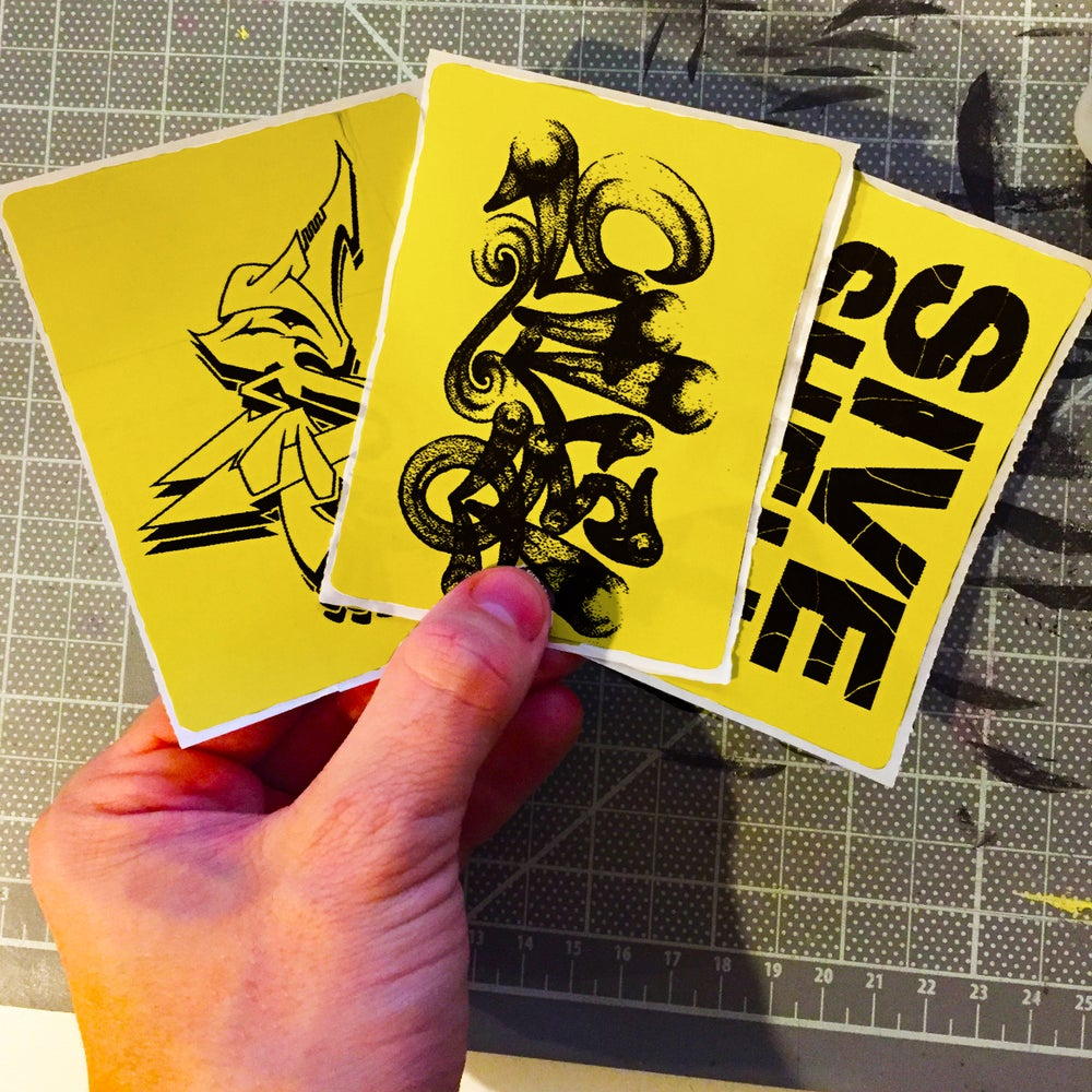 Image of Custom Yellow Thermal Transfer Stickers