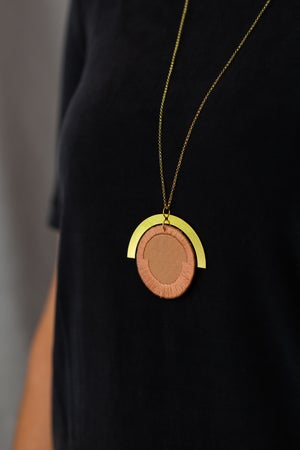 Image of LUNA circle pendant in Rose
