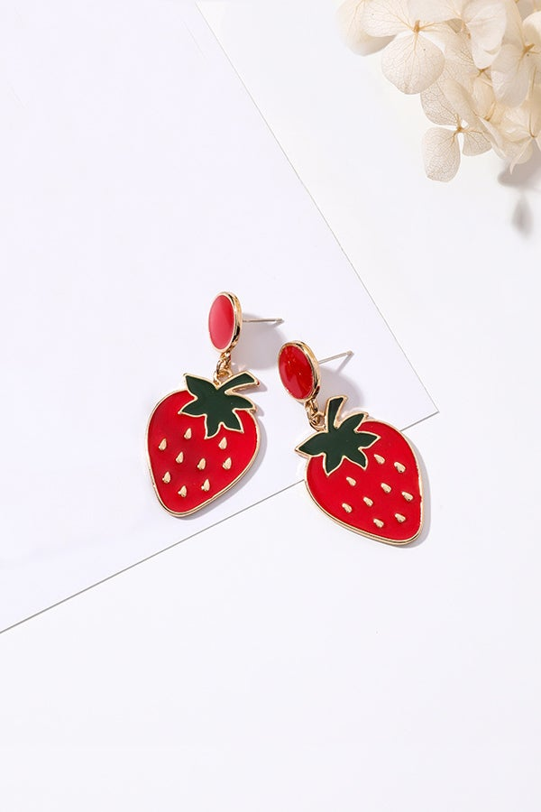 Image of JUICY STRAWBERRY EARRINGS