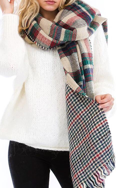 Image of Plaid scarf