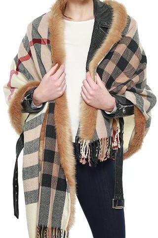 Image of Burberry fur trim