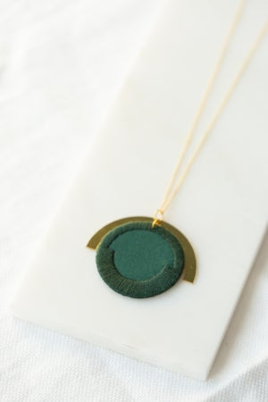 Image of LUNA circle pendant Forest