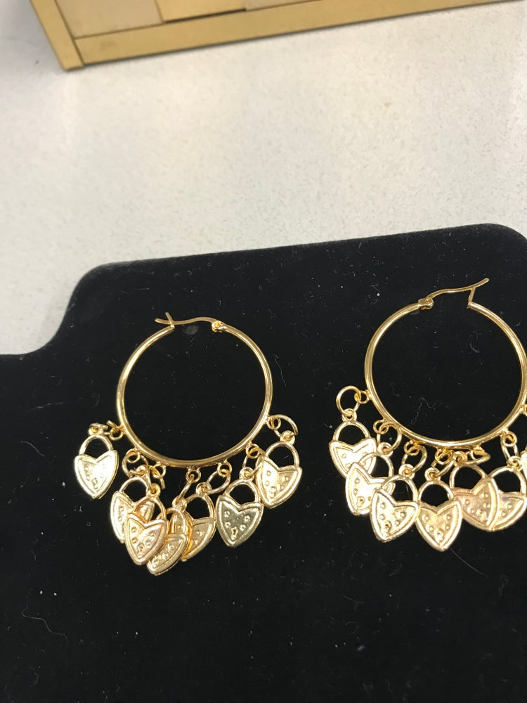 Image of Chandelier gold plated earrings