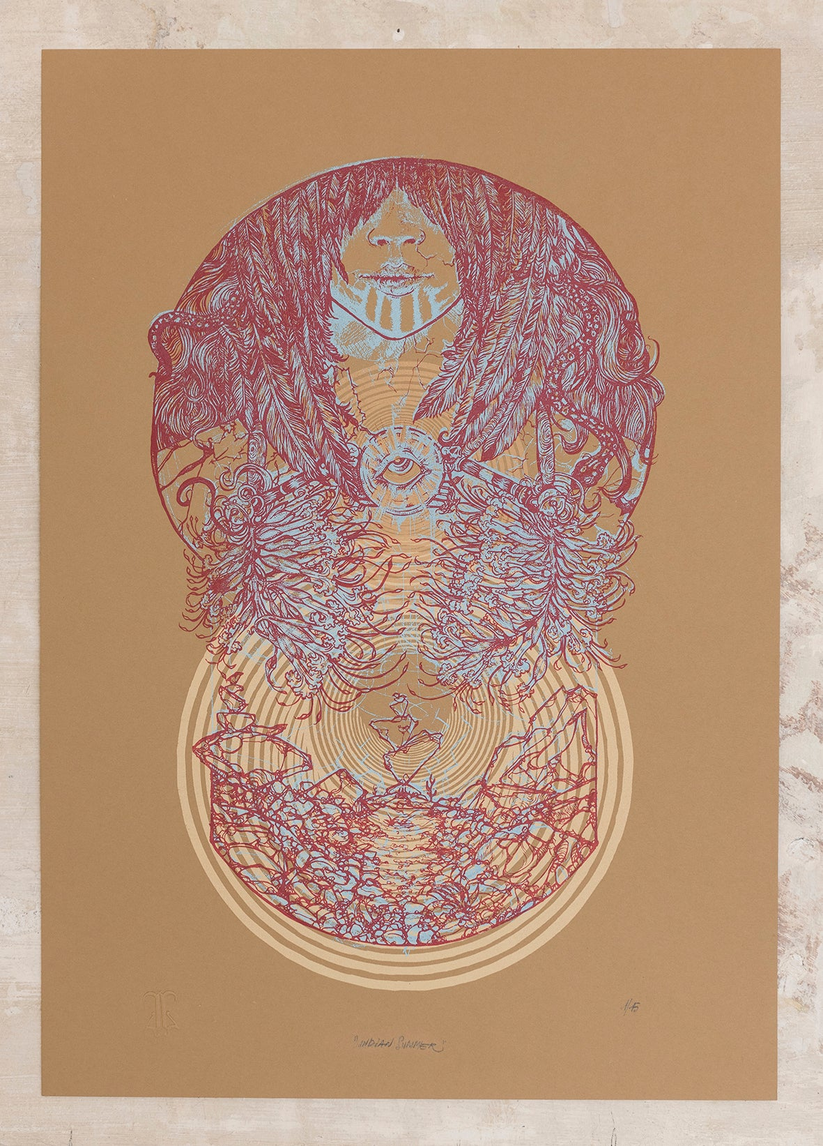 "Image of ""INDIAN SUMMER"" Art Print"