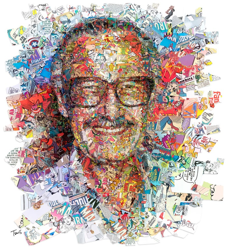 Image of Stan Lee by his superheroes (Limited edition fine art prints)