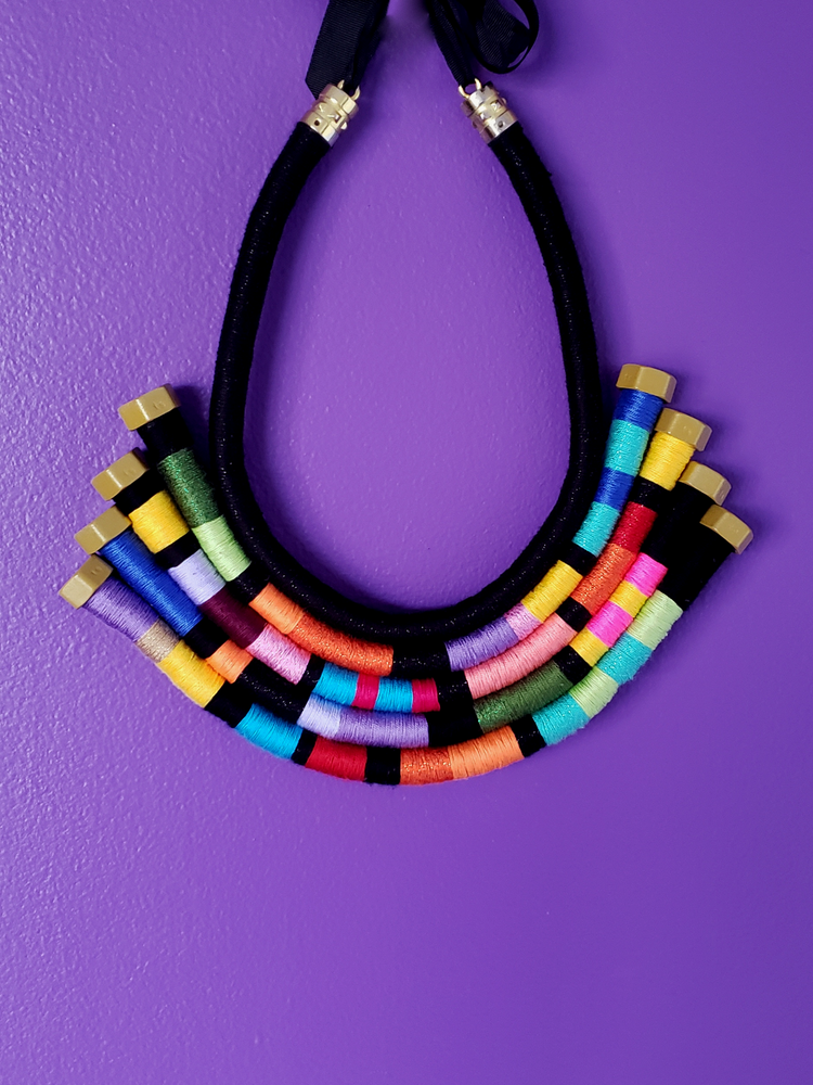Image of Sofia Multicolor Statement Necklace
